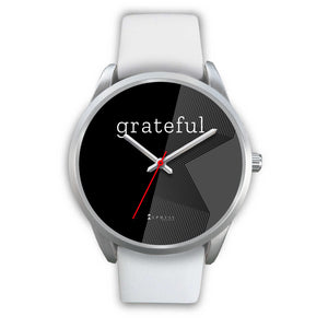 Women's Grateful Watch in Silver (Black Face)