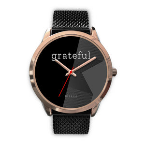 Women's Grateful Watch in Rose Gold (Black Face)