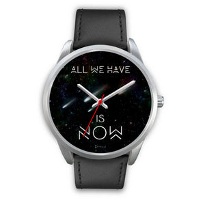 All We Have Is Now Men's Watch in Silver