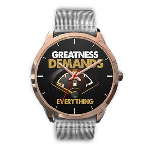 Greatness Demands Everything Women's Watch in Rose Gold