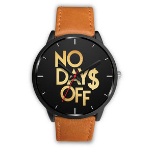 No Days Off Men's Watch in Black