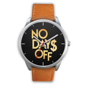 No Days Off Men's Watch in Silver