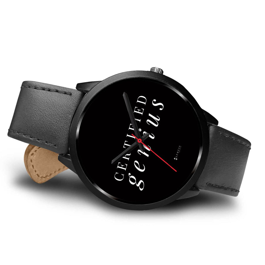 Certified Genius Men's Watch in Black