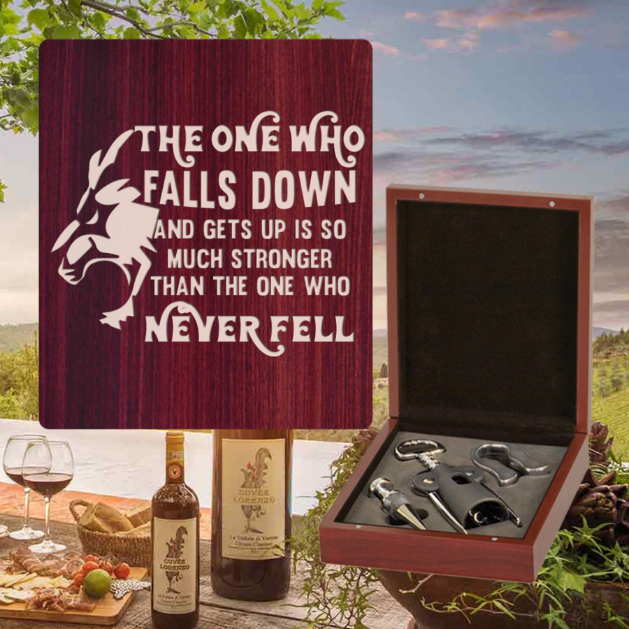 The One Who Falls And Gets Up Wine Set - 3 Piece (Specialty Item)