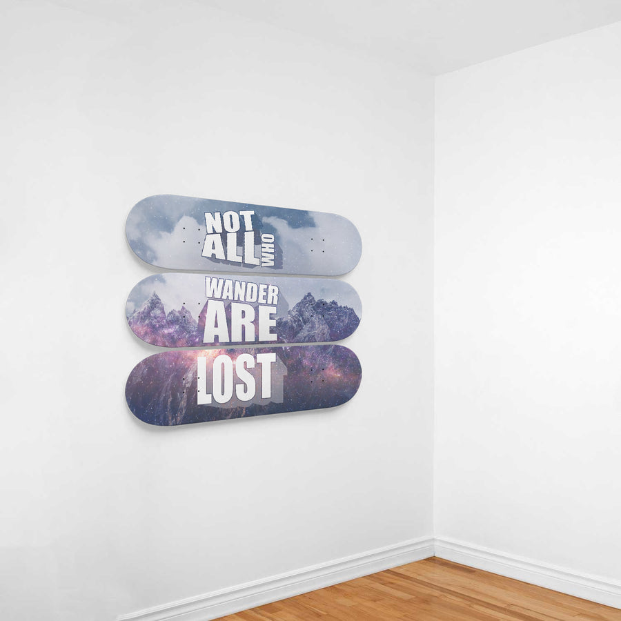 Not All Who Wander Are Lost 3-Panel Wall Art