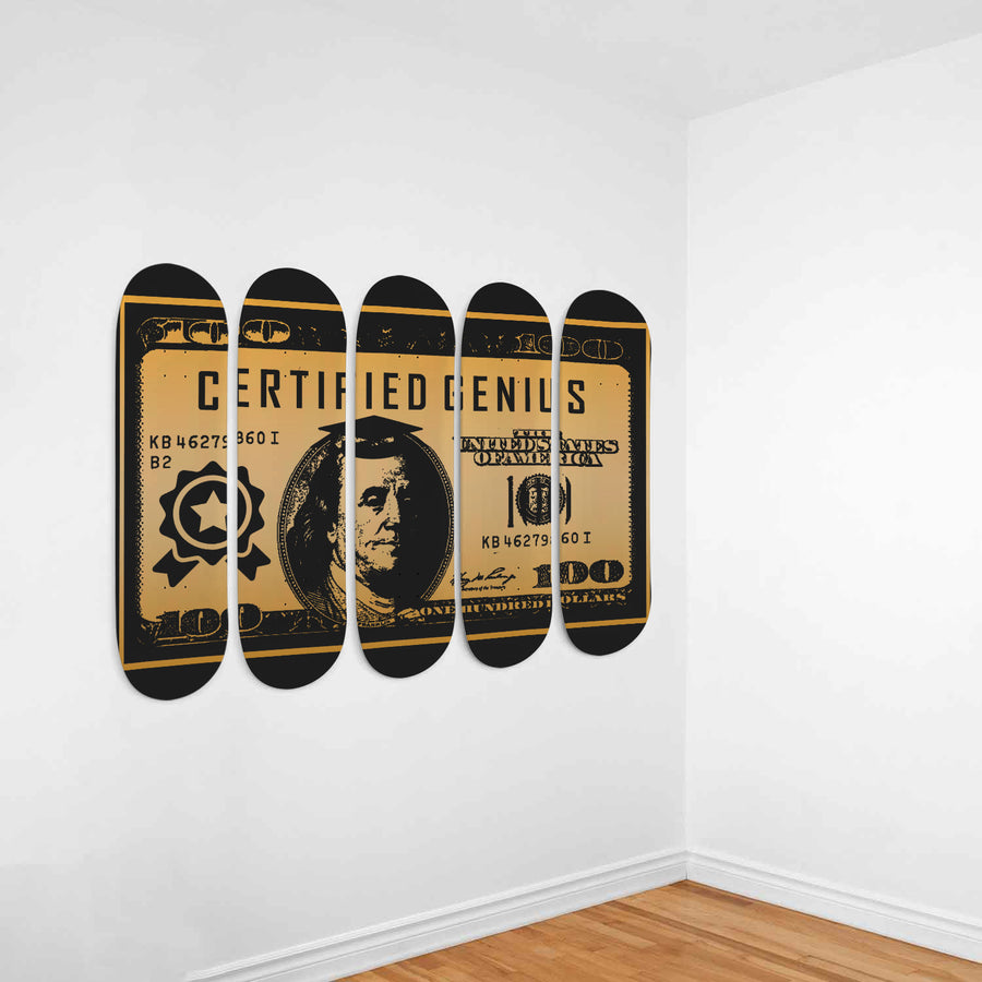 Certified Genius 5-Panel Skateboard Art