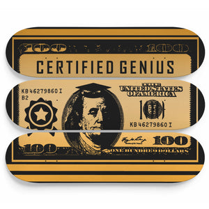 Certified Genius 3-Panel Skateboard Art