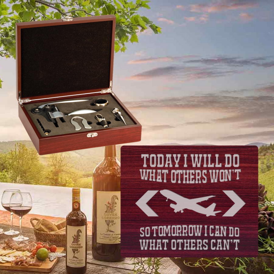 Today I Will Do What Others Won't Wine Set-5 Piece (Specialty Item)