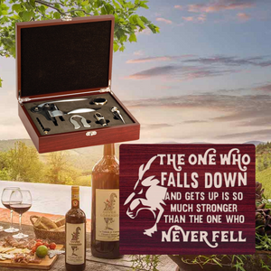 The One Who Falls And Gets Up Wine Set-5 Piece (Specialty Item)