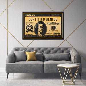 Certified Genius Canvas Art