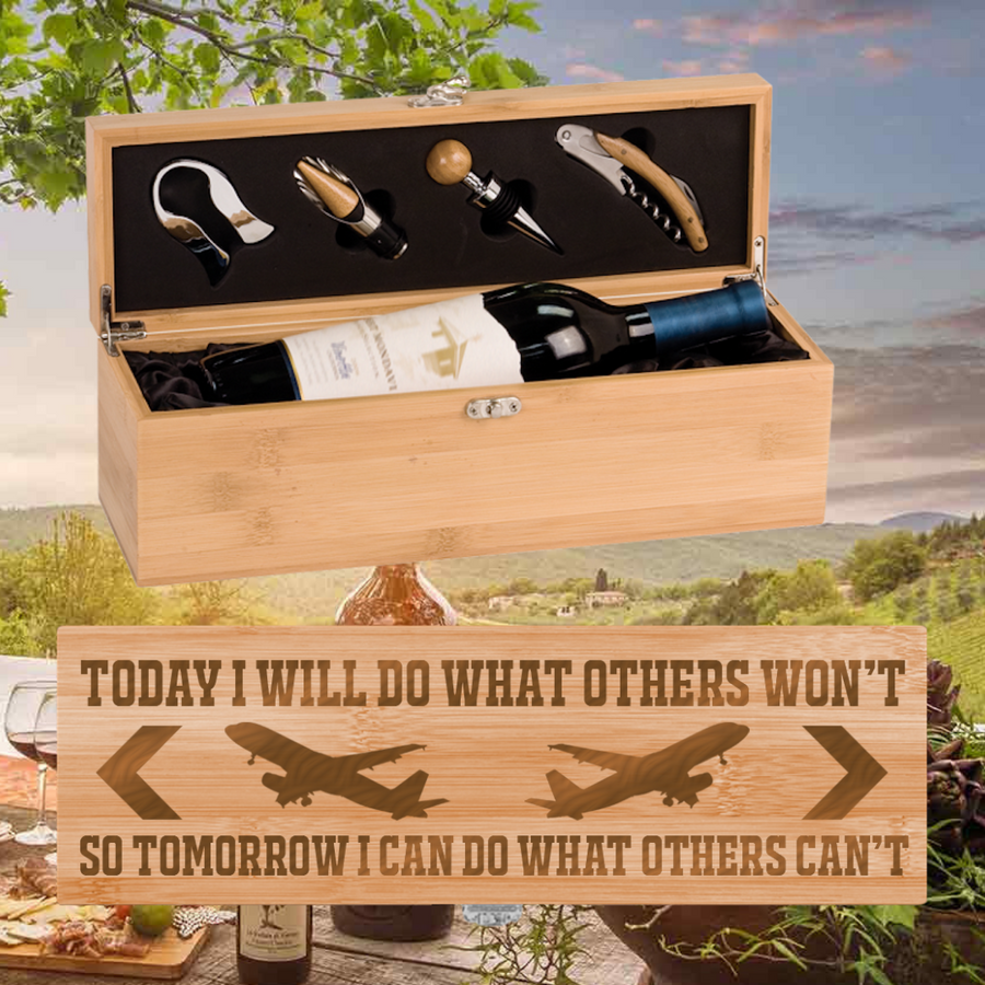 Today I Will Do What Others Won't Wine Box -  One Bottle Set (Specialty Item)