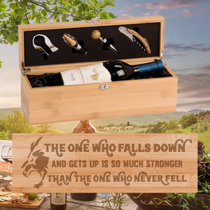 The One Who Falls Down And Gets Up Wine Box -  One Bottle Set (Specialty Item)