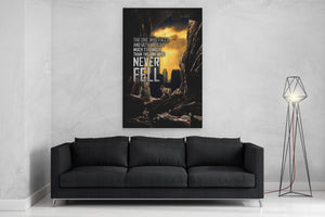 The One Who Falls And Gets Up Canvas Art