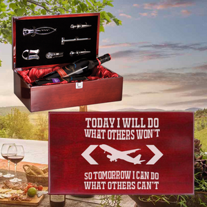Today I Will Do What Others Won't Wine Box - Double Bottle Set (Specialty Item)