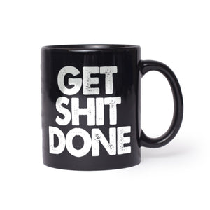 Get Sh!t Done Black Mugs