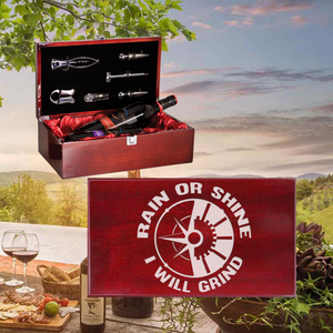 Rain Or Shine I Will Grind Wine Box - Double Bottle Set (Specialty Item)