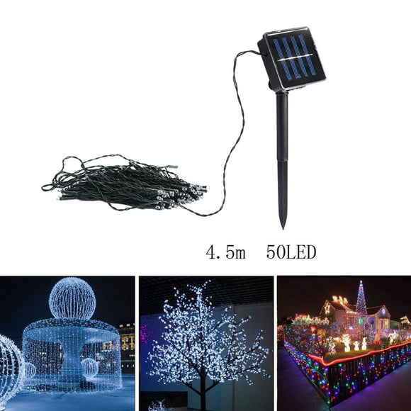 50-100 LED Solar Powered Christmas Lights