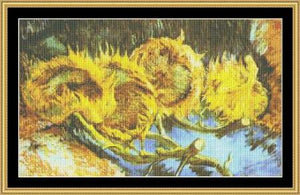 Four Cut Sunflowers - Van Gogh  GM-65