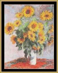 THE GREAT MASTERS COLLECTION   Bouquet Of Sunflowers - Monet GM2-02