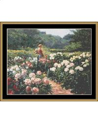 GREAT MASTERS COLLECTION Woman In Garden Of Peonies - Fuller-Graves  18th-32