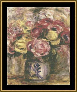 GREAT MASTER STILL LIFE SERIES Flowers In Blue & White Vase – Renoir  GMSL-20 - Mystic Stitch Inc...