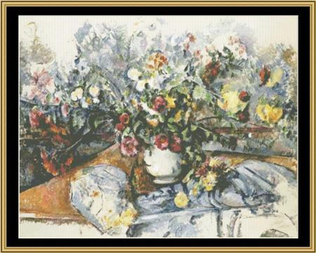 GREAT MASTER STILL LIFE SERIES Large Bouquet Of Flowers – Cezanne  GMSL-06