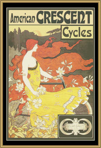 Art Nouveau Poster Collection AMERICAN CRESCENT CYCLES Frederick Winthrop Ramsdell, 1899 ANP-03 - Mystic Stitch Inc...