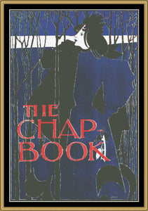 "Art Nouveau Poster Collection BLUE LADY ""THE CHAP BOOK"" William H. Bradley ANP-06 - Mystic Stitch Inc..."