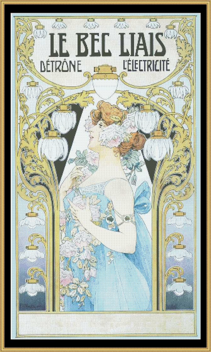 Art Nouveau Poster Collection LE BEC LIAIS Privat Livemont, 1904  ANP-12 - Mystic Stitch Inc...