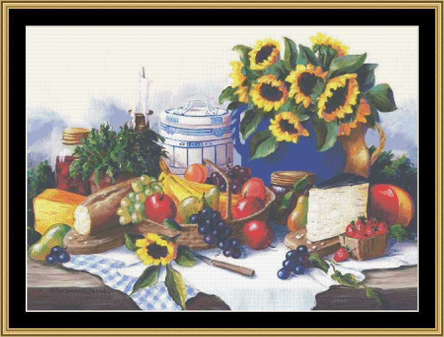 A Still Life Series - Sunflower & Fruit BF-125 - Mystic Stitch Inc...