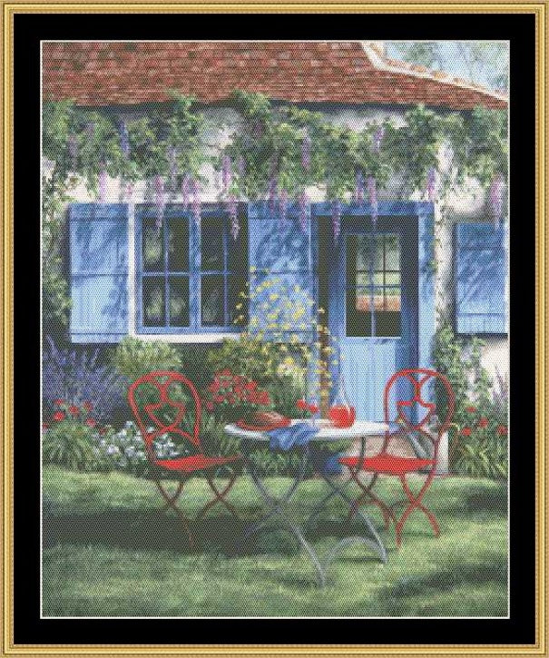Copy of TEA IN THE GARDEN COLLECTION - WINE AND WISTERIA  BF-175