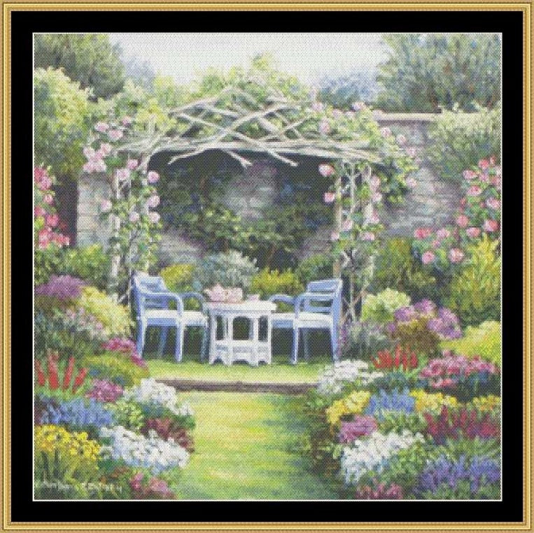 TEA IN THE GARDEN COLLECTION - TEA IN THE GARDEN PAVILION  BF-201