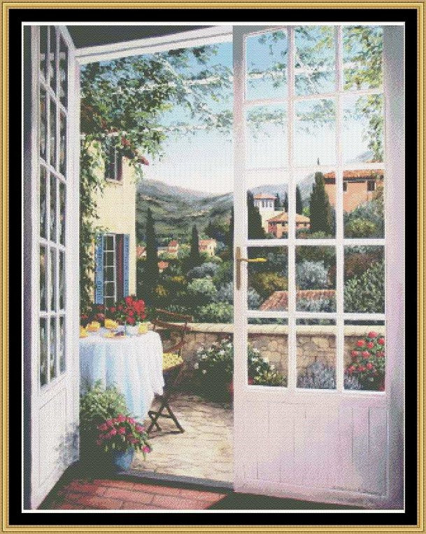 ENGLISH GARDEN COLLECTION - BRUNCH OVERLOOKING BONNEIWUX  BF-207