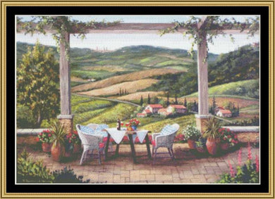 TEA IN THE GARDEN COLLECTION - A TUSCAN MOMENT  BF-215