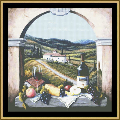 A Still Life Series - Scene With A Vineyard Road BF-314 - Mystic Stitch Inc...