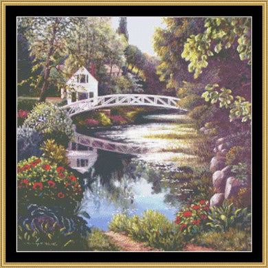 ENGLISH GARDEN COLLECTION - BRIDGE REFLECTION  BF-321