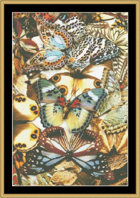 BUTTERFLY COLLAGE  BUTC-05 - Mystic Stitch Inc...