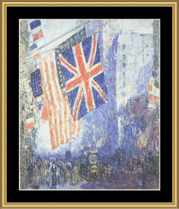 A Great Master-Union Jack On April Morning - Hassam