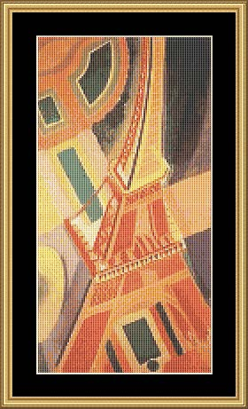EIFFEL TOWER ABSTRACT FP-FRA10 - Mystic Stitch Inc...
