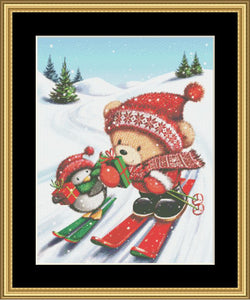 2018 HOLIDAY COLLECTION! SKIING BEAR I GBRS-01 - Mystic Stitch Inc...