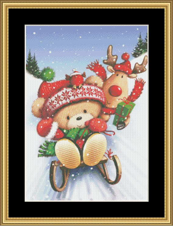 2018 HOLIDAY COLLECTION! SKIING BEAR II GBRS-02 - Mystic Stitch Inc...