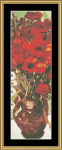 """IT'S ALL IN THE DETAIL"" COLLECTION VASE WITH DAISIES & POPPIES-VAN GOGH GM-205"