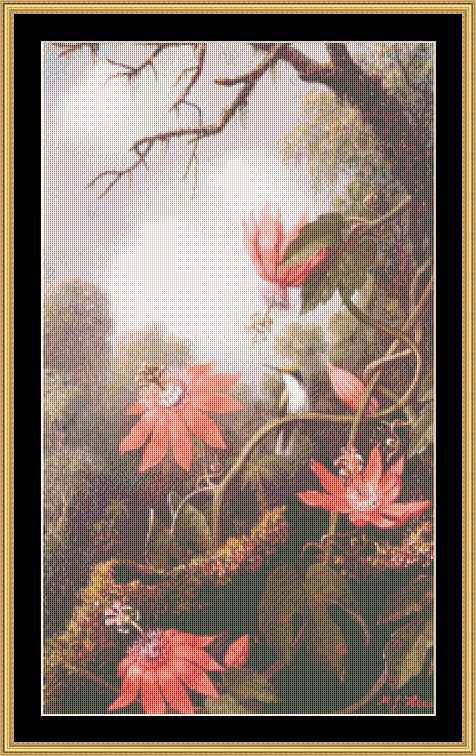 GREAT MASTERS COLLECTION Humming Bird & Passion Flower - Heade  GM-28