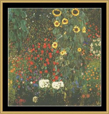 GREAT MASTER COLLECTION - Country Garden With Sunflower - Klimt  GM2-18 - Mystic Stitch Inc...