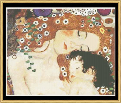 GREAT MASTER COLLECTION - Mother & Child (Detail) - Klimt   GM2-23 - Mystic Stitch Inc...
