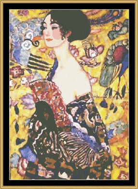 GREAT MASTER COLLECTION - Lady With Fan - Klimt   GM2-26 - Mystic Stitch Inc...