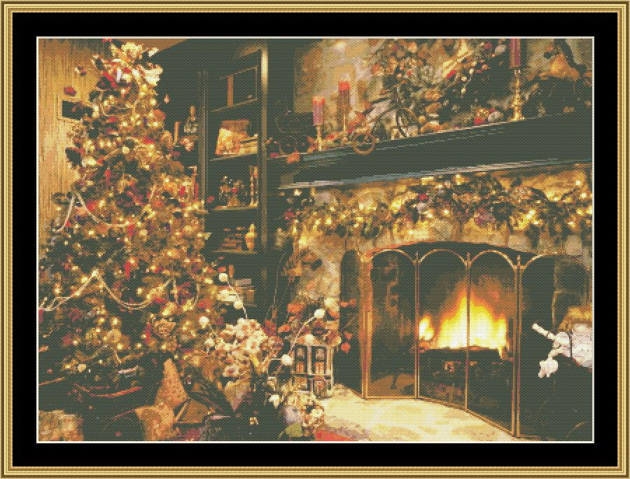 Christmas Fireplace  HOL-153