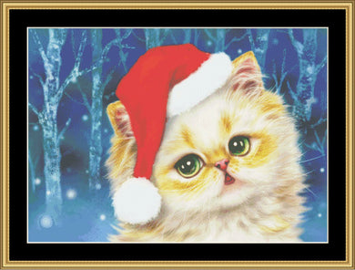 Christmas Kitten   KH-04 - Mystic Stitch Inc...