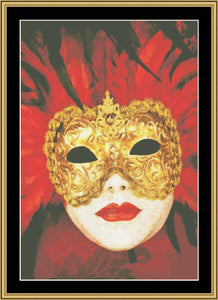 Copy of MARDI GRAS COLLECTION Peacock Mask MARGRA-07