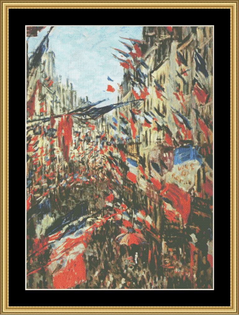 A Great Master-Rue Montarguil Flags-Monet